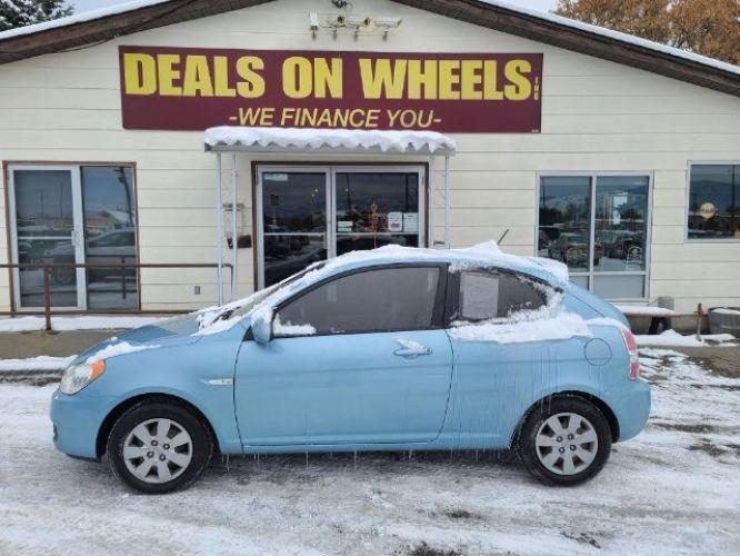 2008 Hyundai Accent GS 3-Door (KMHCM36C08U) with an 1.6L L4 DOHC 16V engine, located at 1800 West Broadway, Missoula, MT, 59808, (406) 543-1986, 46.881344, -114.021065 - Photo #0