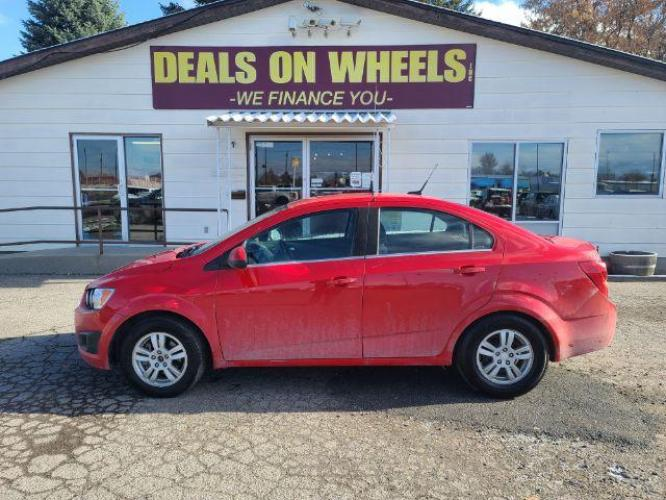 2014 Chevrolet Sonic LT Manual Sedan (1G1JD5SH3E4) with an 1.8L L4 DOHC 24V engine, 5-Speed Manual transmission, located at 1800 West Broadway, Missoula, MT, 59808, (406) 543-1986, 46.881344, -114.021065 - Photo #0