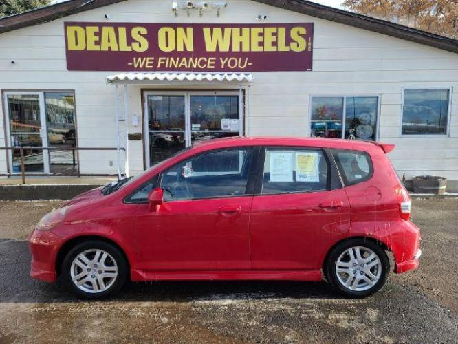 2008 Honda Fit Sport 5-Speed MT (JHMGD37668S) with an 1.5L L4 SOHC 16V engine, 5-Speed Manual transmission, located at 1800 West Broadway, Missoula, MT, 59808, (406) 543-1986, 46.881344, -114.021065 - Photo #0